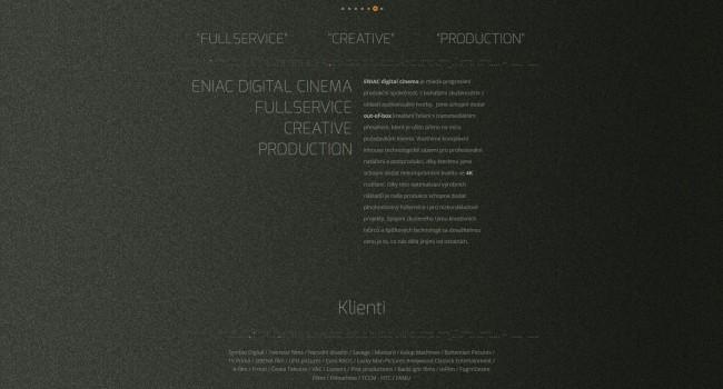 Fotografie reference - Eniac digital cinema