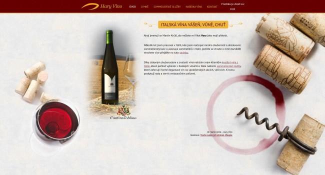 Fotografie reference - Tvorba webových stránek a e-shopu Hary Víno