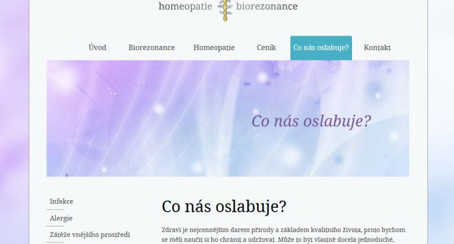 Fotografie reference - Tvorba webových stránek Homeopatie a biorezonance