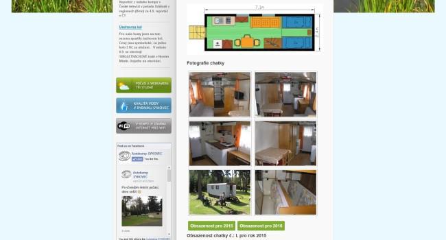 Fotografie reference - Tvorba webových stránek – Kemp Sykovec