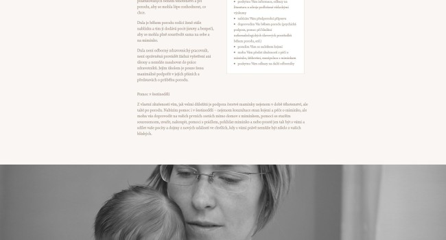 Fotografie reference - Podpora u porodu