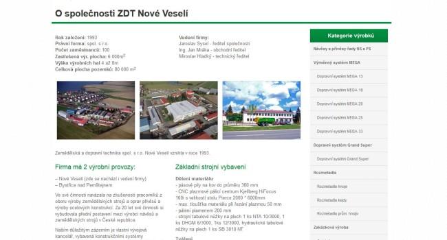 Fotografie reference - Tvorba webových stránek pro ZDT, spol. s r.o.