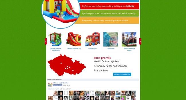 Fotografie reference - Tvorba webových stránek Skákací hrady Vysočina