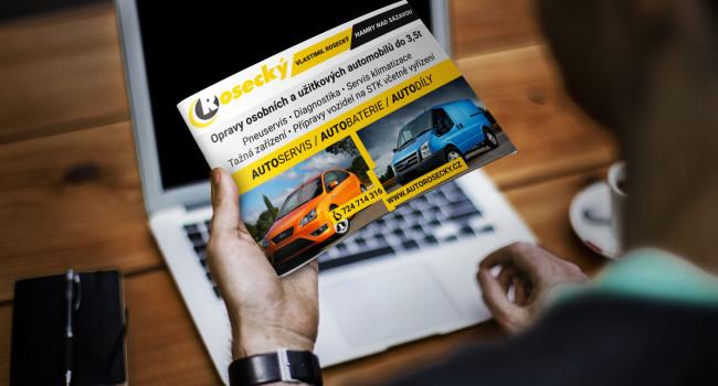 Fotografie reference - Návrh reklamy a tiskovivn – Autoservis Rosecký Hamry nad Sázavou