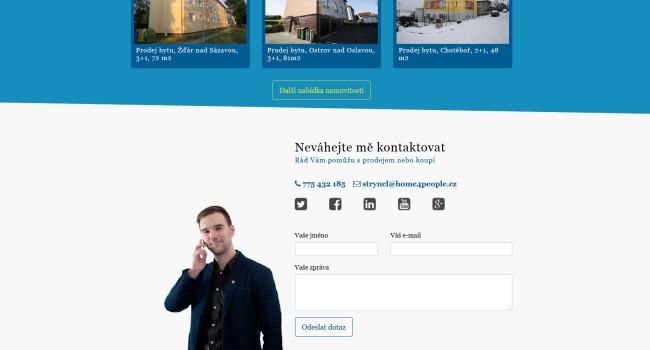 Fotografie reference - Tvorba webových stránek pro realitního makléře Michala Štryncla