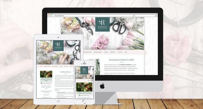 Fotografie reference - Tvorba webových stránek Rosmarino – Květinový ateliér