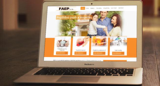 Fotografie reference - Tvorba webových stránek pro společnost FAEP, s.r.o.