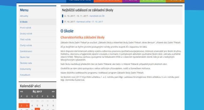 Fotografie reference - Tvorba webových stránek pro základní školu