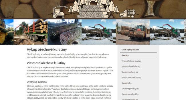 Fotografie reference - Tvorba webových stránek – Výkup kulatiny