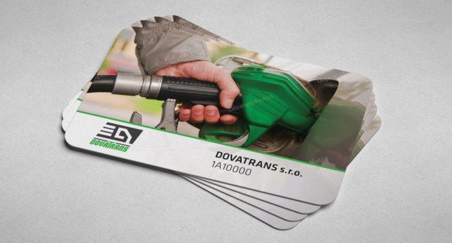Fotografie reference - Grafický návrh pro zákaznické karty čerpací stanice společnosti Dovatrans
