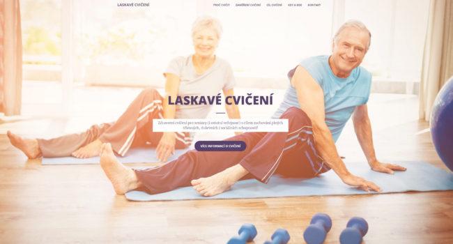 Fotografie reference - Tvorba webových stránek – Laskavé Cvičení