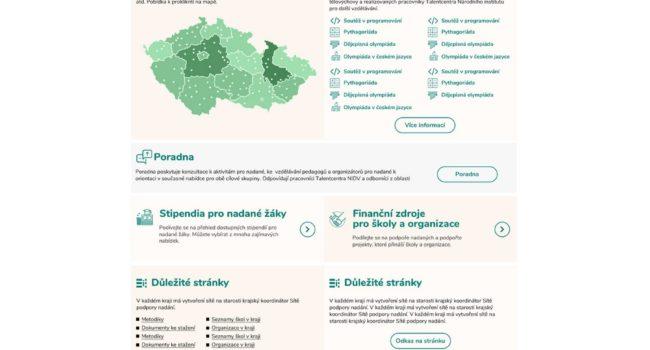 Fotografie reference - Návrh grafiky portál Talentovaní.cz