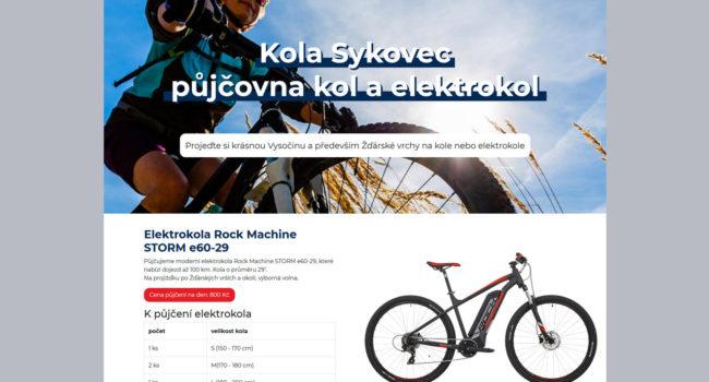 Fotografie reference - Realizace webových stránek – Kola Sykovec