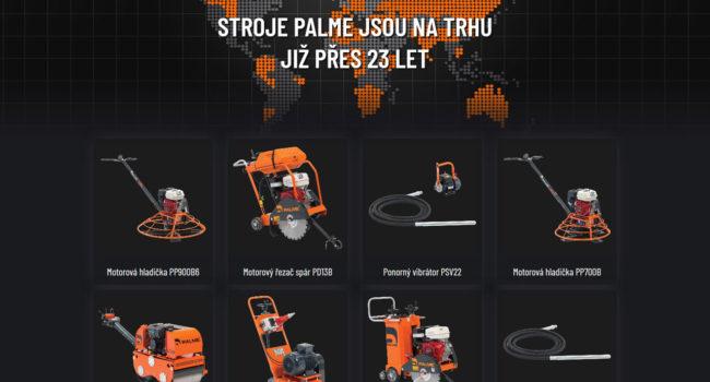 Fotografie reference - Realizace webových stránek – Palme stroje
