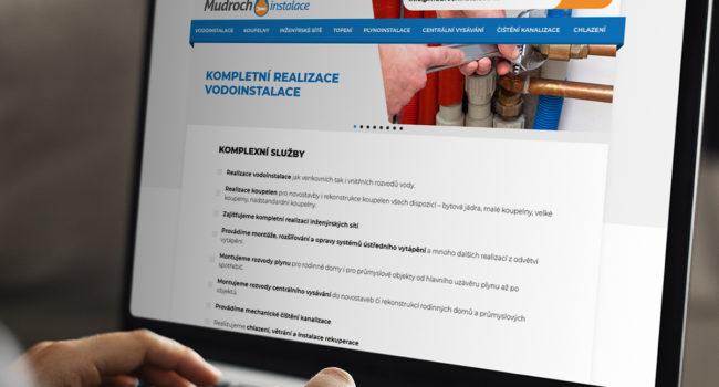 Fotografie reference - Realizace webových stránek – Mudroch Instalace
