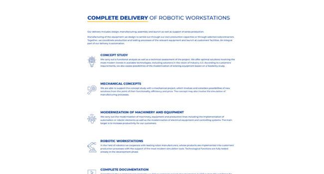 Fotografie reference - Realizace webových stránek – Compas Robotika