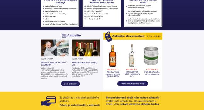 Fotografie reference - Grafický návrh webových stránek – Nápoje Fiala