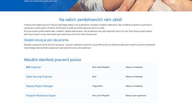 Fotografie reference - Realize webových stránek pro společnost AXIANS REDTOO S.R.O.